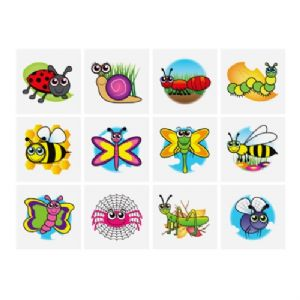 Insects - Pack of 12 Mini Tattoos